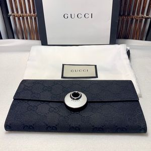 Gucci black wallet—100% Authentic—Gently preloved
